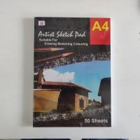 Tiara Sketch Pad Book A4 50 Lembar 150 Gr - Buku Sketsa Lukis Gambar