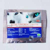Alben Worm Tablet Obat Cacing Kucing-Anjing Paling Efektif