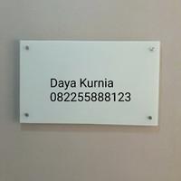 Papan tulis kaca white board 80x120