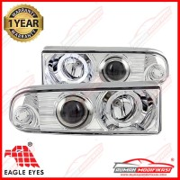 HEAD LAMP - OPEL BLAZER 1998-2004 - EAGLEEYES - ANGEL EYES - CHROME