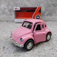 Diecast mobil Volkswagen VW Beetle Classic Miniatur Pajangan Mobil Kod
