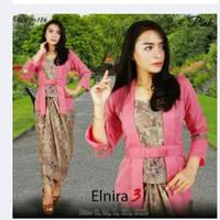 Setelan Kebaya modern Elnira dan Rok lilit - Merah Muda
