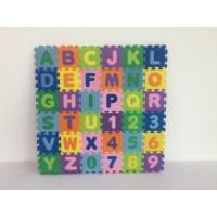 [MAINAN ANAKONSHOP] Ocean Toy Evamats Puzzle Kids ABC/123 8X8CM 36pcs