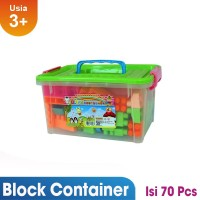 [MAINAN ANAKONSHOP] Ocean Toy Block Container Mainan Anak OCT9218 - Mu