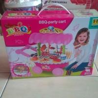 Bbq party cart set 55 pcs