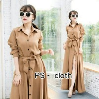 Long Dress Maxi Navy dusty Twiscone EcL fit to L