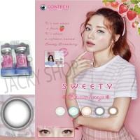 New Sweety Strawberry Softlens - Ring Black + GRATIS Lenscase