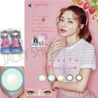 New Sweety Strawberry Softlens - Coral Blue + GRATIS Lenscase