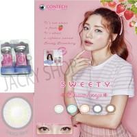 New Sweety Strawberry Softlens - Aquatic Grey + GRATIS Lenscase