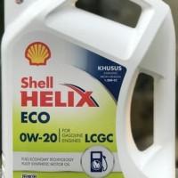 SHELL Helix ECO 0W-20 Oli Mesin modern! Mobil LCGC API SN 0w20 Galon