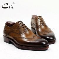 04Handmade Asli Kulit Anak Sapi pakaian Laki-laki Sepatu Brogues Goody