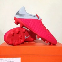New Sepatu Bola Nike Hypervenom 3 Club FG Crimson Grey AJ4145-600 Ori