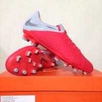 New Sepatu Bola Nike Hypervenom 3 Academy FG Crimson Grey AJ4120-600