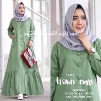 Dijual Baju Muslim Dress Wanita - Baju Wanita Crown Maxi Diskon