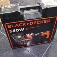 Mesin Bor tembok 13mm BLACK&DECKER HD555 + 100 Acessories