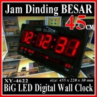 XY-4622 JAM DINDING DIGITAL LAYAR BESAR 45 CM LED CLOCK WALL
