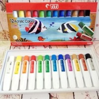 Cat akrilik Titi / cat acrylic 12 warna