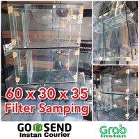 Aquarium kaca 60x30x35 filter samping