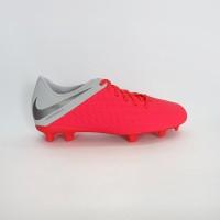 Sepatu Bola Nike Hypervenom 3 Club FG - Lt.Crimson/Dark Grey-Wolf
