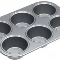 Loyang / cetakan / teflon kue muffin isi 6 lubang