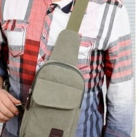 new selempang slempang waist bag sling bag backpack kanvas pria cowo