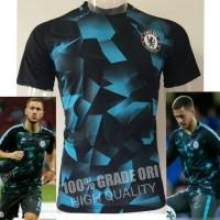 Jersey Baju Kaos Chelsea Training PRematch UCL 17 18 Grade Ori Futsa
