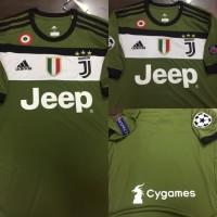 Jersey Baju Juve Juventus 3rd 17 18 Grade Ori Futsal Full Patch UCL