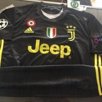 Jersey Baju Kaos Obral Juventus 3rd 18 19 Grade Ori Full Patch UCL