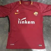 Jersey Baju Kaos AS Roma Home 17 18 Grade Ori Futsal Patch Copa Link