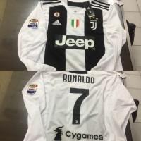Jersey Baju Juve Juventus Home 18 19 Grade Ori Longsleeve NAME PATCH