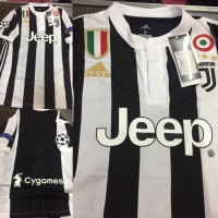 Jersey Baju Juve Juventus Home 17 18 Grade Ori Futsal Full Patch UCL