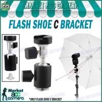 Flash Shoe C Bracket Tripod/Light Stand for Umbrella Holder/Flash