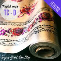 Taplak Meja Makan PVC Tahan Air/Waterproof Quality SUPER Meteran TC-D