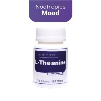L-Theanine 30 Kapsul|Mengurangi Stress, Gelisah & Tenang|Nootropics
