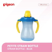 PIGEON Petite Straw Bottle Blue / Cangkir Minum Bayi