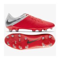 Sepatu Bola Nike Hypervenom 3 Academy Crimson Grey AJ4120 609 original