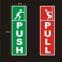 STICKER PUSH PULL DOOR - STIKER TARIK DORONG PINTU