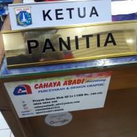 Papan Nama Meja   Name Desk Alumunium - Silver