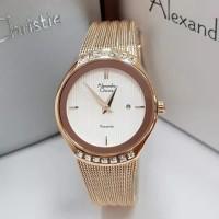 jam tangan wanita alexander cristie original ac2668 rose gold