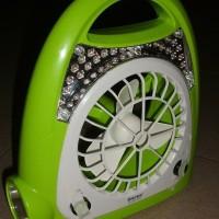 PERALATAN RUMAH Kipas plus lampu emergency surya 24 led Ori