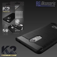 PREMIUM CASE BY K2 SOFT BACK CARBON FIBER OPPO A33 A37 NEO 7 NEO 9