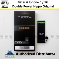 Baterai Hippo Double Power Original Apple Iphone 5 5G Batre Batrai Ori