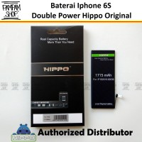 Baterai Hippo Double Power Original Apple Iphone 6S Batrai Batre Ori