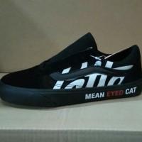 Sepatu Vans Old skool Patta mean eyed cat black Premium vans oldskool