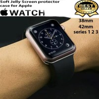 Soft case Jelly Screen protector apple watch bumper case 1 2 3 4 5 6