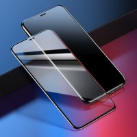 Iphone XR (6.1 Inch) Baseus All Screen 4D Tempered Glass - Hitam