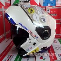 Helm Terlaris Helm Nolan N104 Tribute Stoner pearl white helm modular