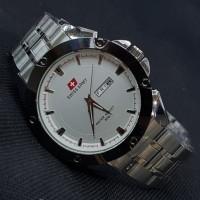 Unik jam tangan pria/cowok swiss army rantai premium simple Murah
