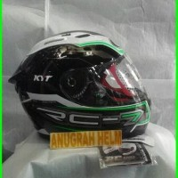 helm kyt rc seven green fluo