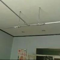 penyangga pembatas ruangan - rell rollet breacket panjang